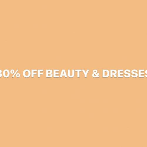 URBAN 30% OFF BEAUTY & DRESSES